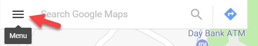 منوی گوگل مپ تنظیمات