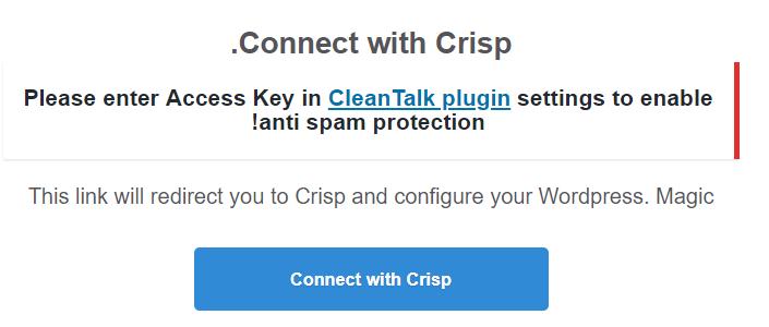 اتصال به وبسایت Crisp